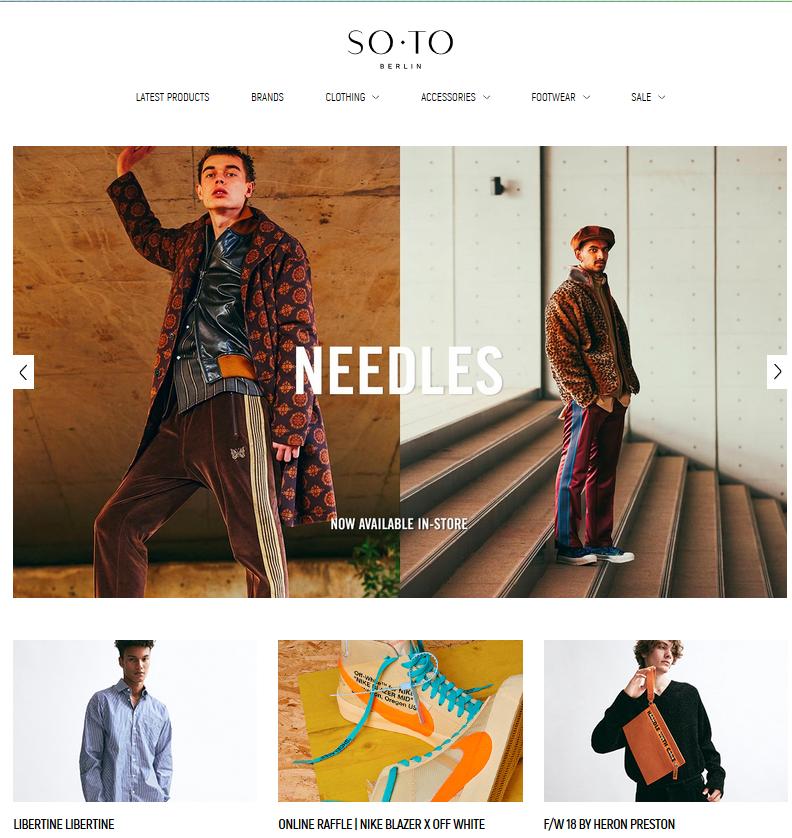 SOTO Store screen