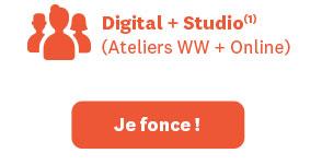 Digital + Studio(1). (Ateliers WW + Online). Démarrez à 0€