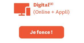 Digital(2). (Online + Appli). Démarrez à 0€
